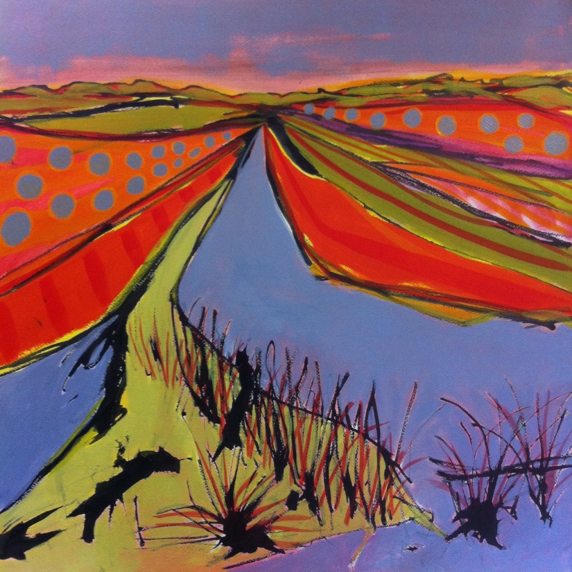 Reedham Marsh Long Ditch 65 x 65cm
