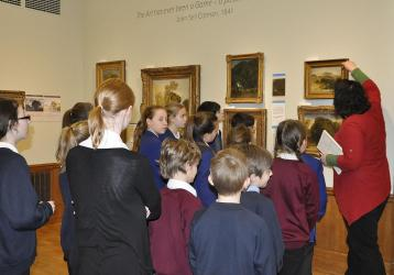 Studying the Norwich School of Painters at Norwich Castle.