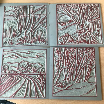 Linoprints made in school